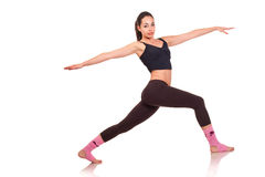 Young girl doing a fitness exercises Royalty Free Stock Photo