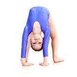 Young girl doing gymnastics Stock Photo