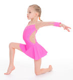 Young girl doing gymnastics Royalty Free Stock Images