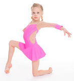 Young girl doing gymnastics Stock Photography