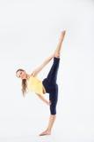 Young girl doing gymnastics Stock Photography