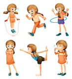 A young girl doing her daily routine Stock Photography