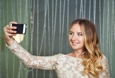 Young girl doing selfie Stock Photo