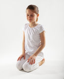 Young girl doing yoga Royalty Free Stock Photo