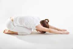 Young girl doing yoga Stock Photo
