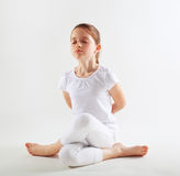 Young girl doing yoga Royalty Free Stock Image