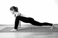 Young girl doing yoga Stock Photography