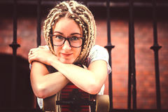 Young girl with dreadlocks Royalty Free Stock Photos