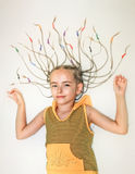 Young girl with dreadlocks Stock Images