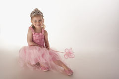 Young girl dressed in fairy princess costume Stock Photography