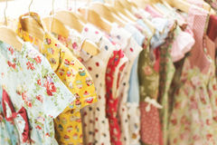 Young girl dresses in shop display Royalty Free Stock Image