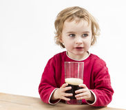 Young girl drinking beer Stock Photos