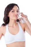Young girl drinking water Royalty Free Stock Photos