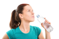 Young girl drinking water Royalty Free Stock Photography