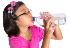 Young Girl Drinks Mineral Water II Stock Photo