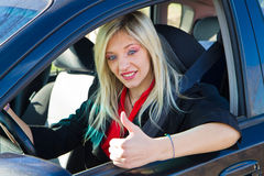 Young girl driving Royalty Free Stock Image