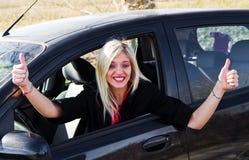 Young girl driving Stock Photos