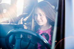 Young girl driving Royalty Free Stock Photography
