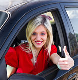 Young girl driving Royalty Free Stock Photo