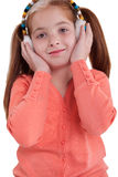 Young girl with earflaps Royalty Free Stock Images
