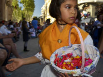 Young girl at easter procession in Murcia, Spain Stock Photo