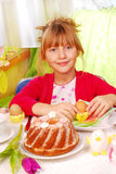 Young girl in easter time Royalty Free Stock Image