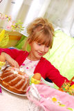 Young girl in easter time Royalty Free Stock Images