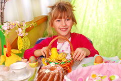 Young girl in easter time Royalty Free Stock Photography