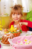 Young girl in easter time Stock Images