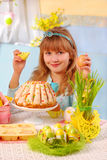 Young girl in  easter time Stock Photo