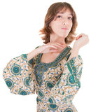 Young girl in eastern dress Stock Photography