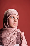 Young girl in eastern scarf Stock Photography