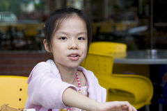 Young Girl Eating Royalty Free Stock Photo