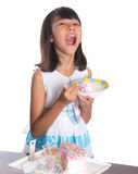 Young Girl Eating Cake IV Stock Photo
