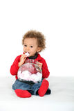 Young girl eating candies Royalty Free Stock Image