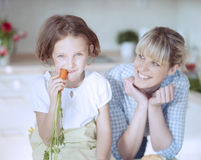 Young girl eating carrot Royalty Free Stock Photo