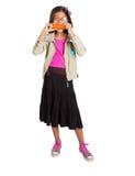 Young Girl Eating Carrot III Stock Photos