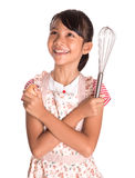 Young Girl With Egg Beater VI Royalty Free Stock Photography