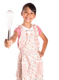 Young Girl With Egg And Egg Beater III Stock Images