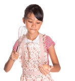 Young Girl With Egg And Egg Beater IV Royalty Free Stock Images