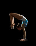 Young girl engaged art gymnastic Royalty Free Stock Image