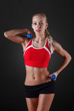 The young girl engaged in fitness Royalty Free Stock Image