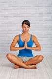Young girl is engaged in yoga Royalty Free Stock Photo