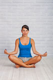 Young girl is engaged in yoga Royalty Free Stock Photos