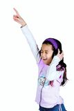 Young girl enjoying her favourite song Royalty Free Stock Image