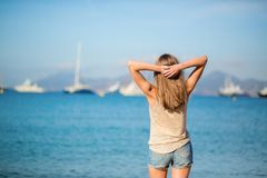 Young girl enjoying her vacation Royalty Free Stock Images