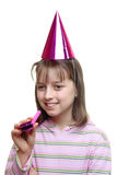 Young girl enjoying a party Stock Photo