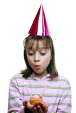Young girl enjoying a party Stock Images