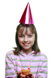 Young girl enjoying a party Royalty Free Stock Photography
