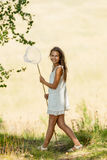 Young girl Entomologist Royalty Free Stock Photo